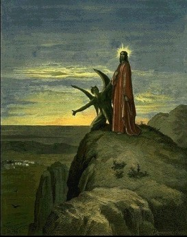 Dore temptation of jesus by the devil