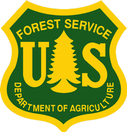 United States Forest Service logo.