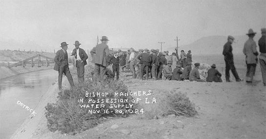 Bishop ranchers in possession of LA water supply during the California water wars November 16-20, 1924