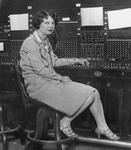Louise Gipe, a heroic telephone operator during the St. Francis Dam disaster.
