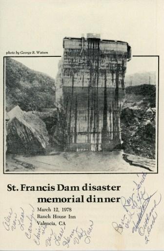 St. Francis Dam disaster memorial dinner, March 12, 1978