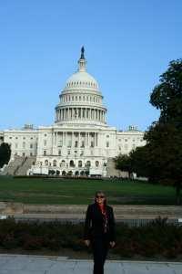 Dianne Erskine-Hellrigel at Capitol in Washington DC