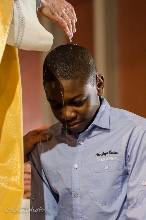 Baptême d'un adolescent