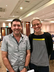 Glen Brice and Dr Pia Ostergaard