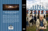 """Cover and lay-out design for """"Citizen Peter"""" by Antti Alanen and Olaf Möller. Published by LIKE kustannus 2013."""
