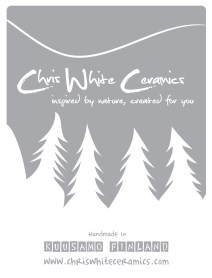 Identity and logo design for Chris White Ceramics. Also package and brochure design based on this identity. 2012