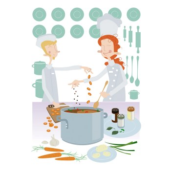 "Illustrations for ""Equality at work"" project by Finnish Ministry of Employment and the Economy, 2014"