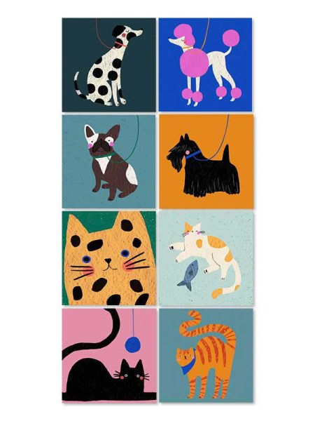 Cat and Dog Greeting Cards
