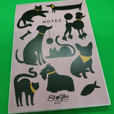A6 blank note pads