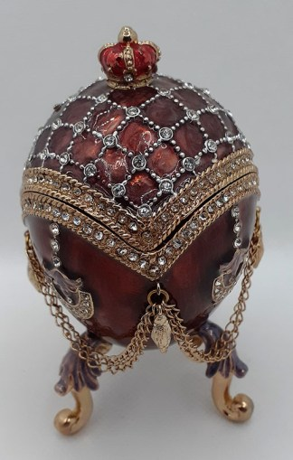 Enamelled Egg Trinket Box