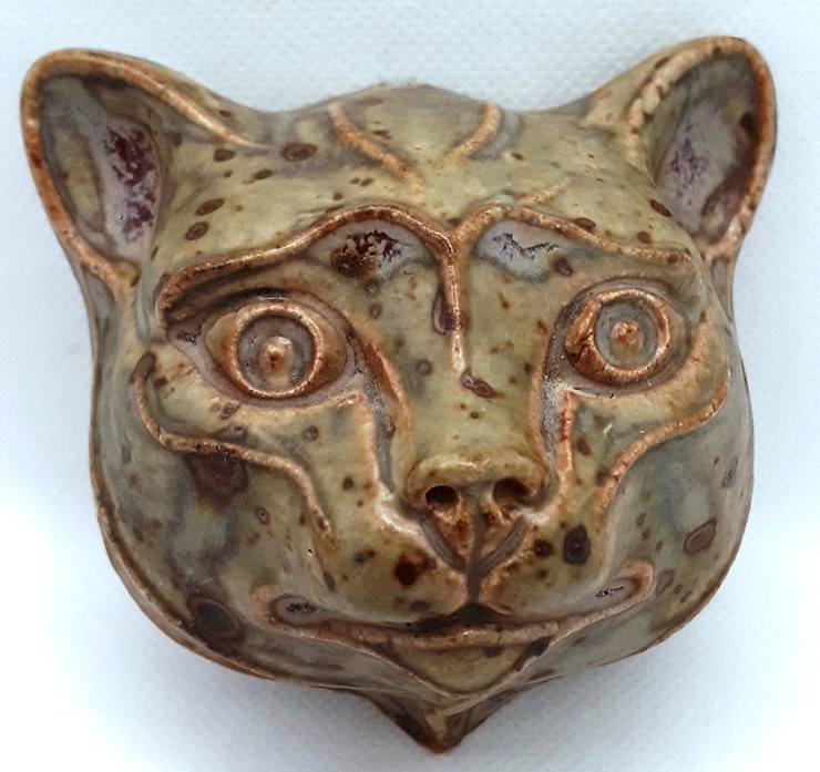 Ceramic Cat's Head