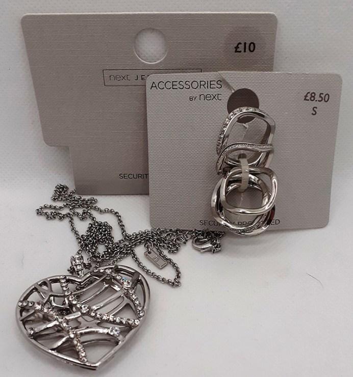 Heart-shaped Pendant & Rings