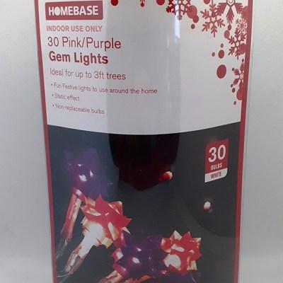 Set of 30 Pink/Purple Lights