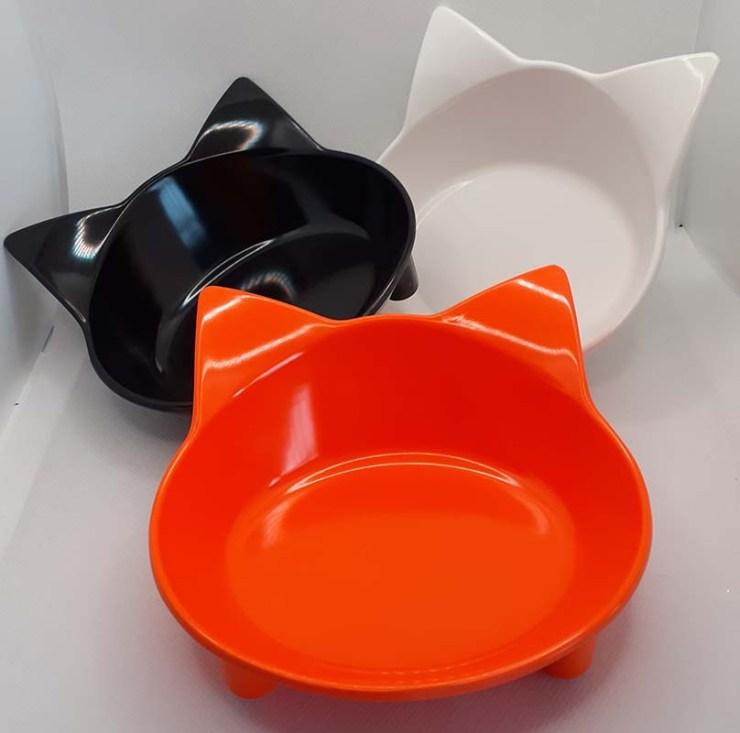 Set of 3 Cat Feeding Bowls