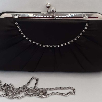 Black Satin evening bag
