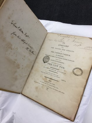 Jenner's Cowpox essay - gifted to Everard Home