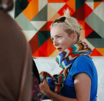 Zoe Burt at Slow Textiles Group event