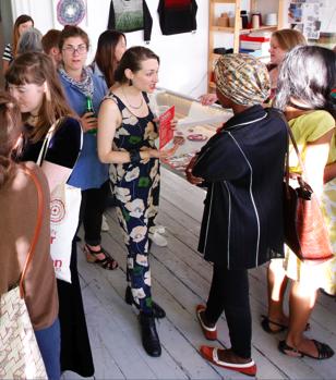 Josey Mendez, Geraldine Peclard, Lea Balducci, Taman Sheikh, Tina Francis and Tanvi Kant at Slow Textiles Group event