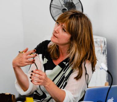 Emma Neuberg, Slow Textiles Group event, 2014