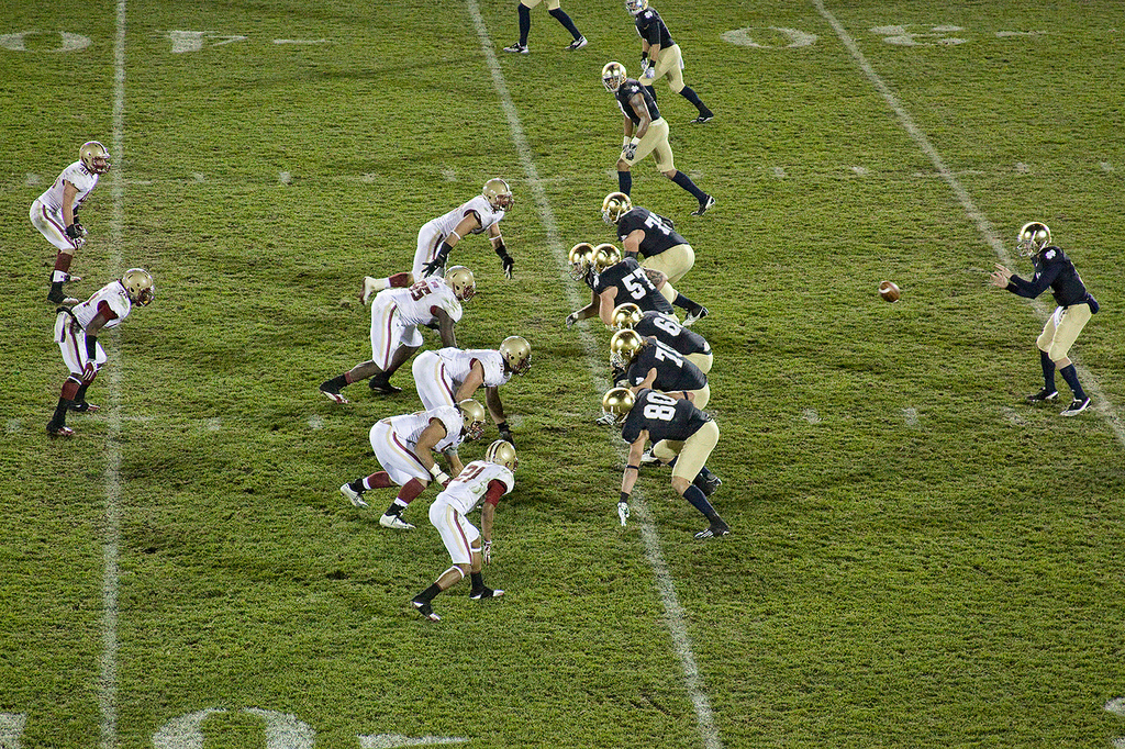 Notre Dame Fighting Irish vs Boston College Eagles football game
