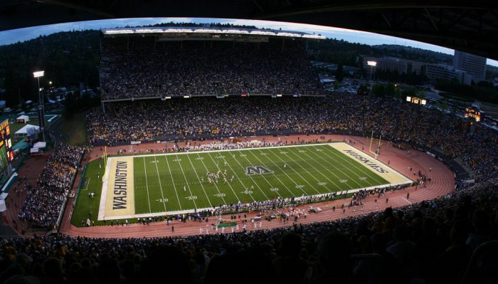 Washington Huskies football game at Husky Stadium