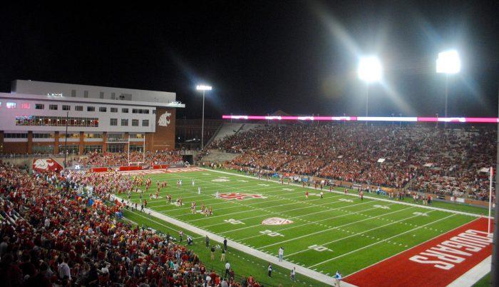 Washington State Cougars football game at Martin Stadium