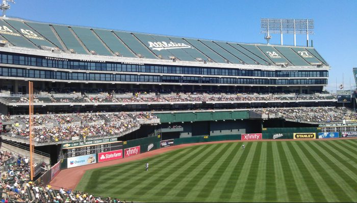 Oakland Athletics baseball field