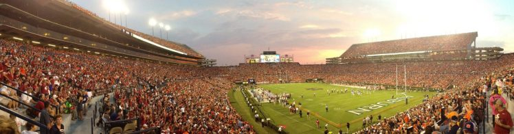 Auburn Tigers football fans at Jordan Hare Stadium