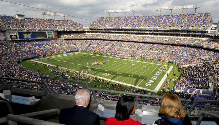 Baltimore Ravens fans at M&T Bank Stadium