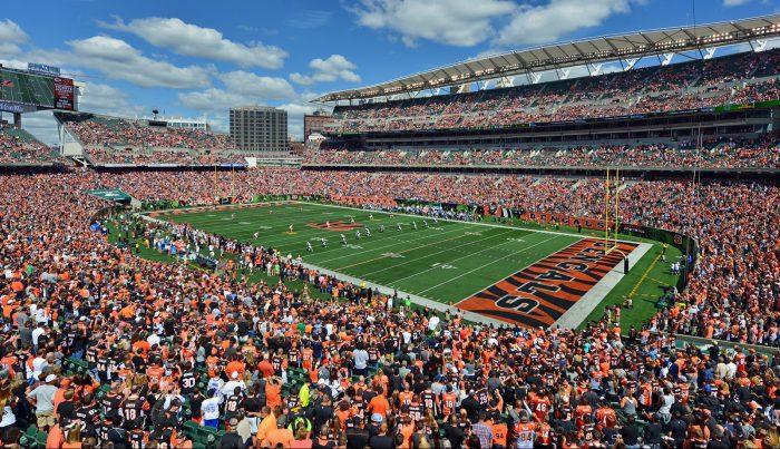 Cincinnati Bengals fans at Paul Brown Stadium
