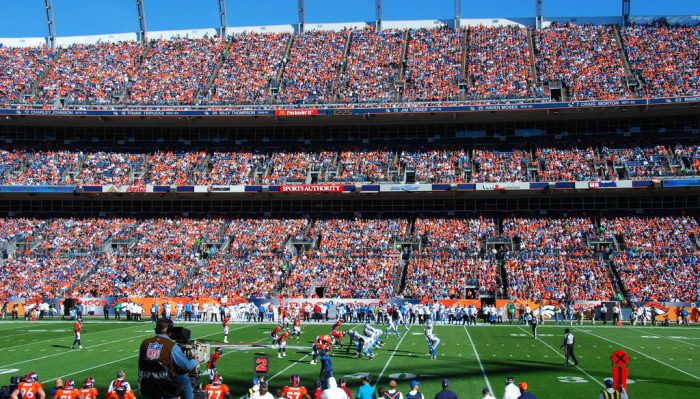Denver Broncos fans at Empower Field at Mile High