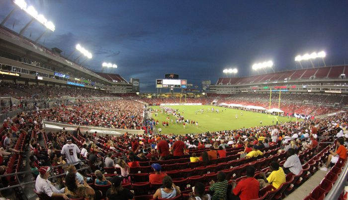 Tampa Bay Buccaneers fans at Raymond James Stadium