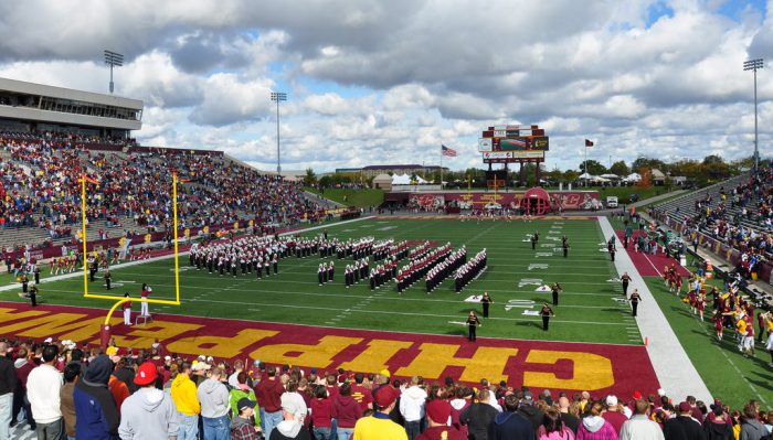 CMU Chippewas football game at Kelly Shorts Stadium