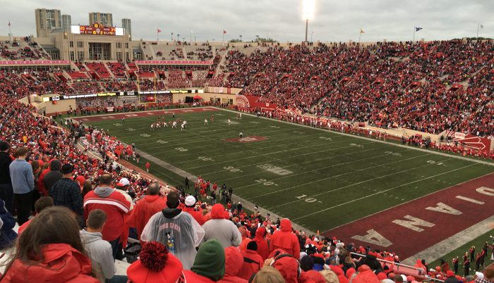 Indiana Hoosiers football fans at Memorial Stadium Indiana