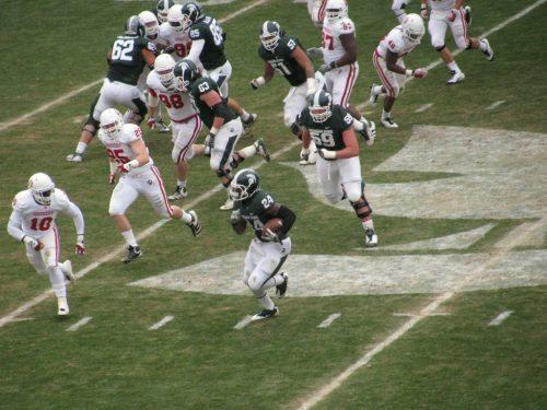 Indiana Hoosiers vs MSU Spartans football game