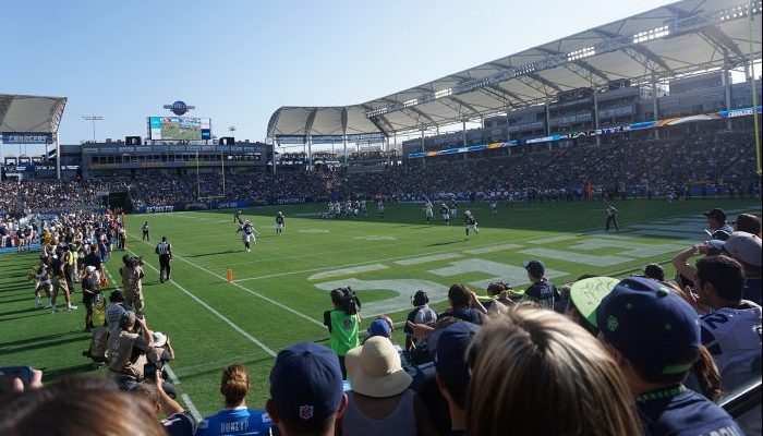 Los Angeles Chargers fans at StubHub Center