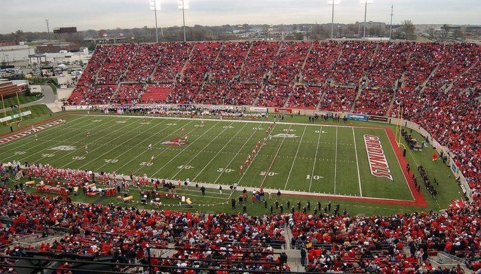 football game at Cardinal Stadium