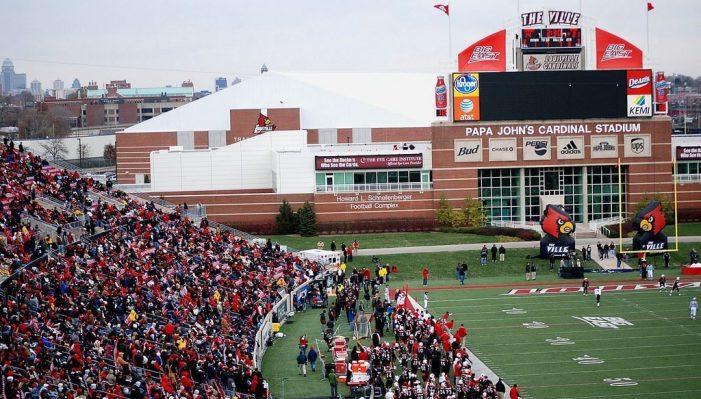 huge crowd at Cardinal Stadium
