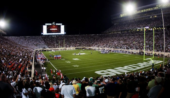 MSU Spartans football game at Spartan Stadium