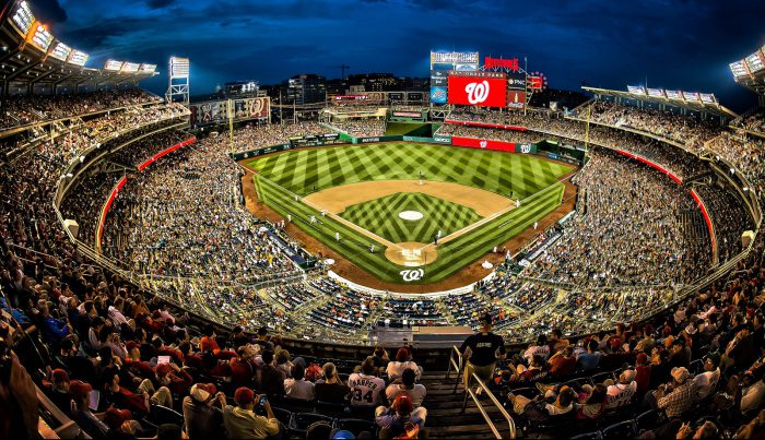 Nationals Park fisheye view from above