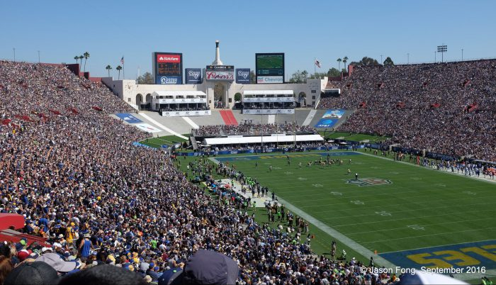 LA Rams Los Angeles game at Memorial Coliseum