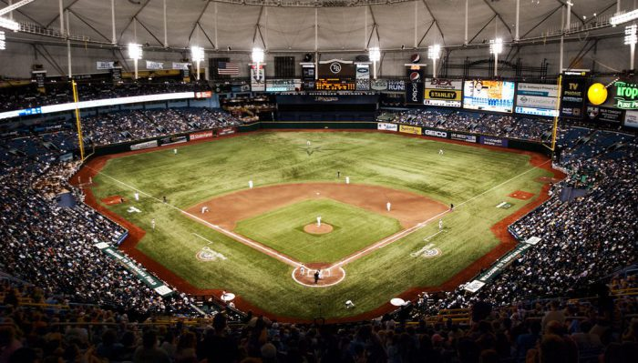 Tampa Bay Rays game view from above
