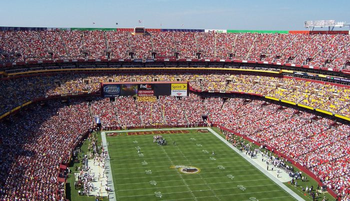 Washington Redskins game at FedEx Field