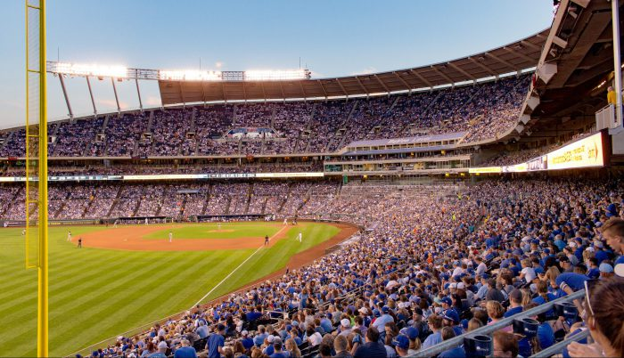 fan filled Kauffman Stadium