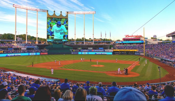 Kauffman Stadium big screen