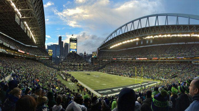 Seattle Seahawks fans at CenturyLink Field