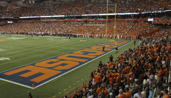 Syracuse Orange football fans at the game