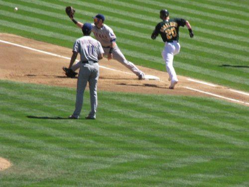 Texas Rangers vs Oakland Athletics baseball game