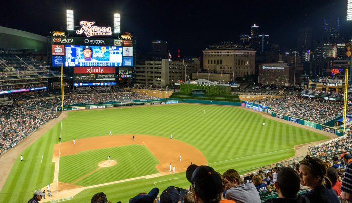 Comerica Park view from audience seat