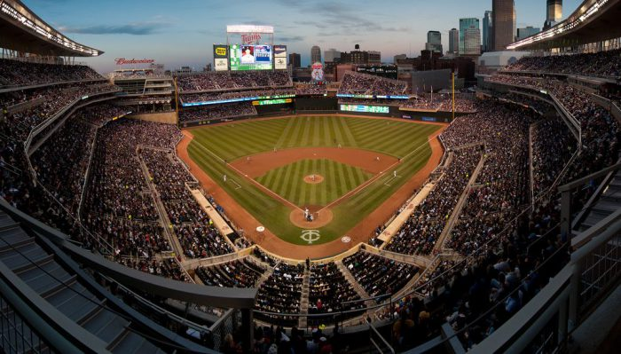 Wide angle panoramic view of Target Field